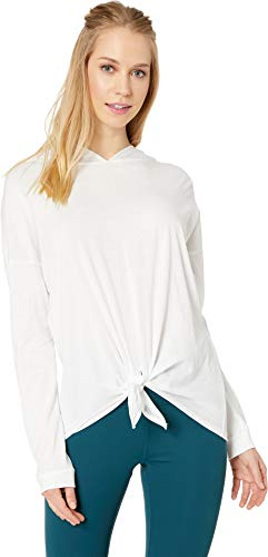 Beyond Yoga Women's All About It Tied Hoodie White Medium by Beyond Yoga (Image #3)