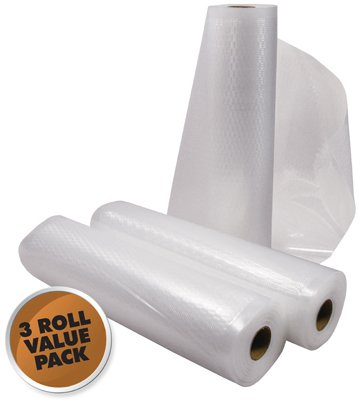 - Weston Realtree Vacuum Sealer Bags Roll (Pack of 3), 11x18-Inch, Clear