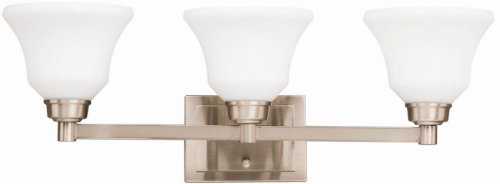 Kichler 5390NI Langford Bath 3-Light, Brushed Nickel
