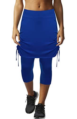 HonourSex Womens Capri Skirt Tennis Casual Skirted Leggings Skort, Sport Running Athletic Swim Workout with -
