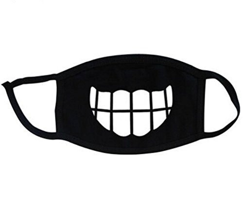 Super-Hunter-Outdoor-Protective-Cartoon-Teeth-Cotton-Face-Mouth-Mask-Suitable-for-Adults-3-Black