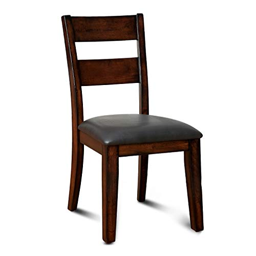 (Furniture of America Dallas Transitional Dining Chair, Dark Cherry, Set of 2)