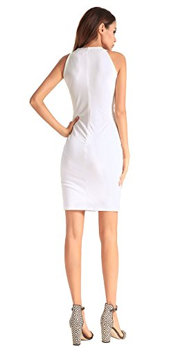 FOLOBE White la de de de vestido lentejuelas noche mujer vestido fiesta rp7Sqxrw