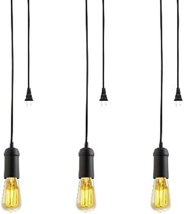 LightInTheBox Modern Contemporary Mini Style 60W Streamlined Pendant Light in Black Chandelier for Dining Room, Bedroom, Living Room