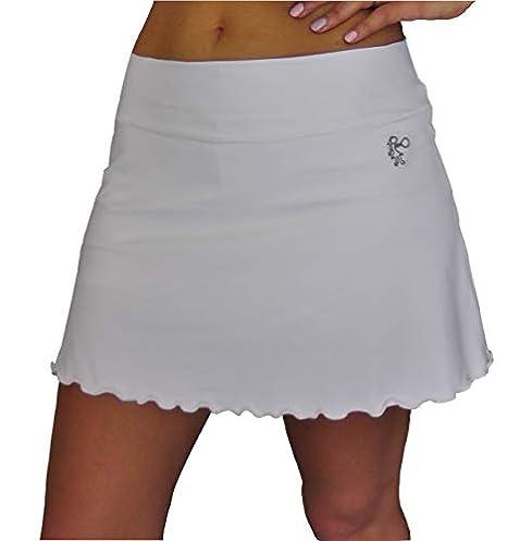 LENNA LEVANN Falda Padel evase Blanca | Modelo Basico con Short Interior | Falda Deportiva para Padel, Tenis, Golf: Amazon.es: Deportes y aire libre