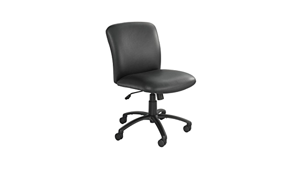 Safco 3491BV Uber Series Big /& Tall Swivel//Tilt Mid Back Chair Vinyl Black