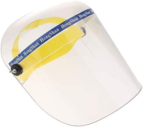 gazechimp フェイスガード 防護面 防油 作業用 フェイスシールド 調整可能 キッチン 作業 工事 修理 溶接用 - プレキシガラス製