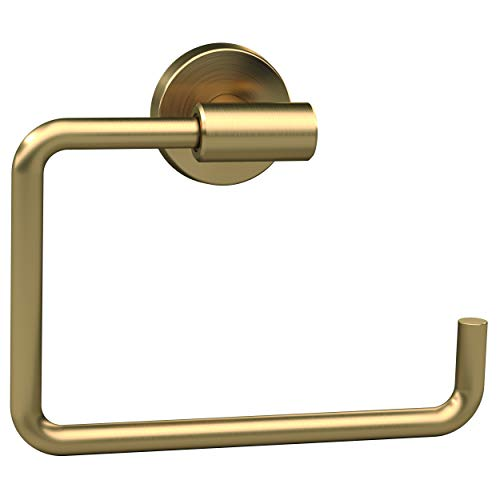 Golden Metal Hardware - Amerock BH26541BBZ Arrondi 6-7/16 in (164 mm) Length Towel Ring in Brushed Bronze/Golden Champagne
