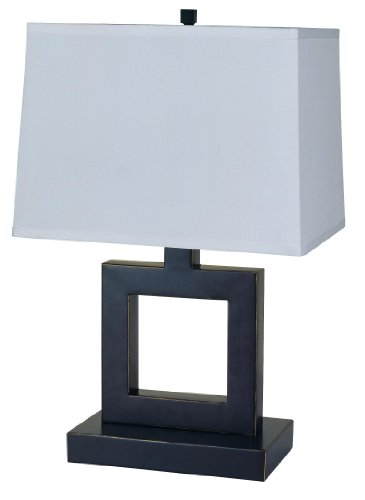 H.p.p 22''h Modern Square Table Lamp- Black
