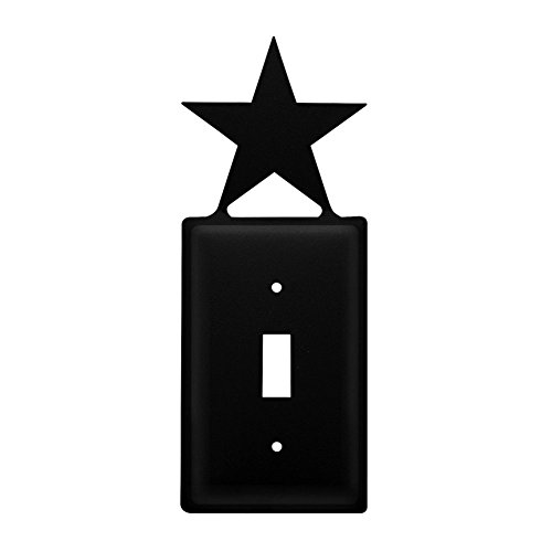 Metal Light Switchplate Cover - Iron Star Switch Cover - Heavy Duty Metal Light Switch Cover, Electrical Outlet Covers, Lightswitch Covers, Wall Plate Cover