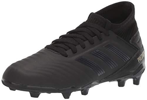 adidas Unisex Predator 19.3 Firm Ground Soccer Shoe, Black/Gold Metallic, 1.5 M US Little Kid