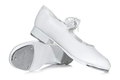 Phoebe Dress In Black - Adult Tap Star Ribbon Tie Elastic Tap Shoes T9015WHT08.0M White 8 M US