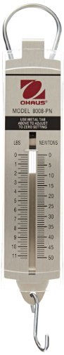 - Ohaus 8008-PN Pull-Type Hanging Spring Scales, 11.25Lb. x .25Lb, 50N x 1N
