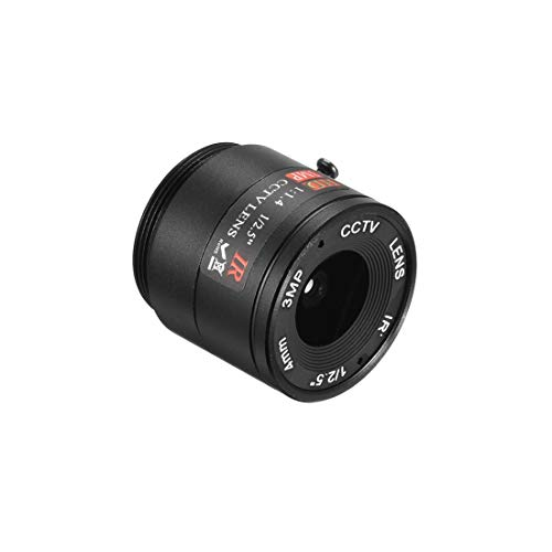 uxcell 4mm 3MP F1.2 FPV CCTV Lens Wide Angle for CCD Camera
