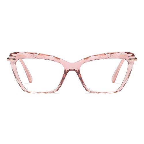 Cat Eye Reading Glasses Frame Crystal Womens Quality Readers Glasses (Red, 2.0)
