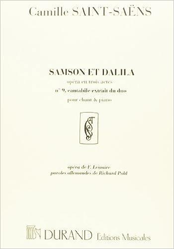 En ligne téléchargement Samson et Dalila No9 (Mon coeur s'ouvre à ta voix) Réb Majeur --- Chant(Voix Mezzo)/Piano pdf
