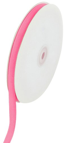 Creative Ideas Solid 3/8-Inch Grosgrain Ribbon, 50-Yard, Hot Pink