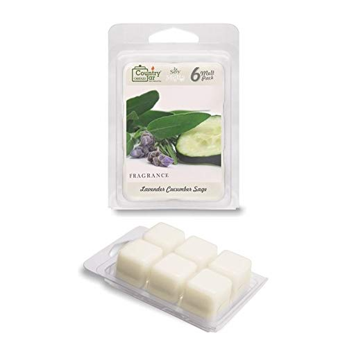 Country Jar Lavender Cucumber SAGE Soy Wax Melts/Tarts (2.75 oz. 6-Cube Pack) Spring Pick-3 Sale! See Details.