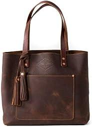 Pebbled Leather Tote Bag For Women, Tan Leather Bag, Leather Handbag, Gift for Her, Diaper Bag, Laptop Bag, Ha