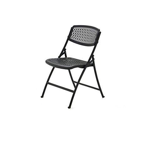 Black Resin Folding Chair - 4