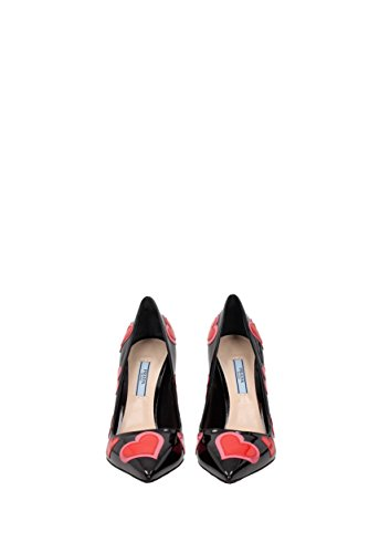 Prada Courts Women - Patent Leather (1I477H) UK Black JF8gYvC
