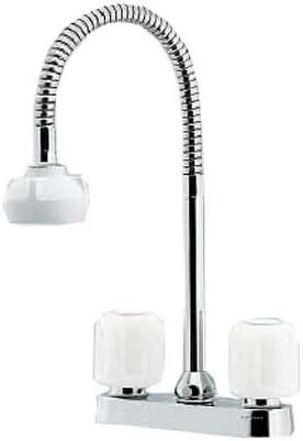 カクダイ 2ハンドル混合栓 キッチン用 台付 シャワー付 151-007