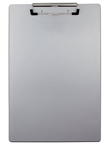 Saunders CLIPBOARD recycled aluminum 8.5 x 14-Inches, 1 Clipboard - Aluminum Recycled Antimicrobial Clipboard