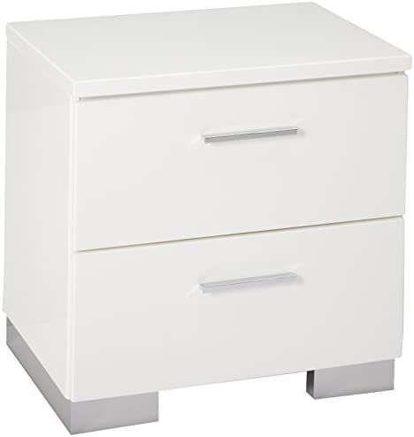 picture of Felicity 2-drawer Nightstand Glossy White