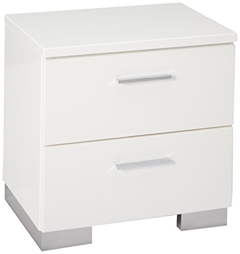 Felicity 2-drawer Nightstand Glossy White (Gloss High Modern)