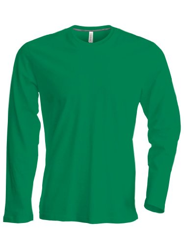 Kariban Langarm T-Shirt mit V-Ausschnitt K358,Farbe:Kelly Green;Größe:XL