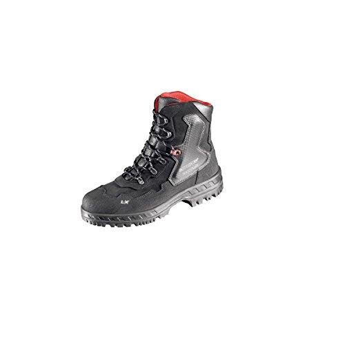 Lupriflex 1 Paar Anti-Knick Industrie Wasserdichter Sicherheits-Schnürstiefel mit Umknickschutz, S3, Schuhweite 11,5 Grau/Schwarz Größe 39-47