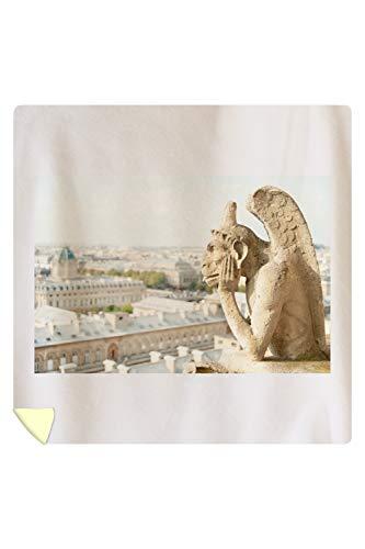 Lantern Press Gargoyle on Notre Dame, France Photography A-91332 (88x88 Queen Microfiber Duvet Cover)
