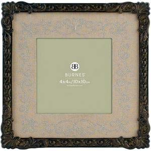 Antiqued finish brass w/brown mat GLORIA by Burnes® - 4x4
