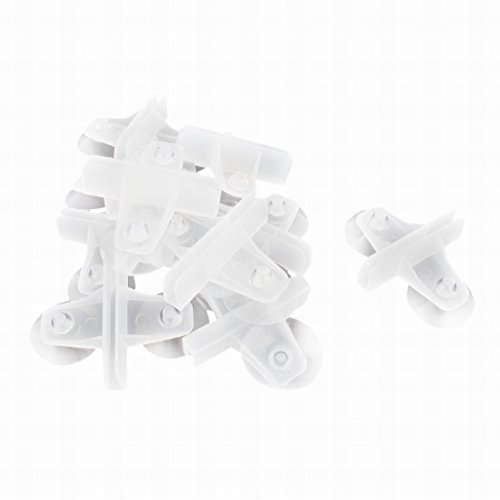 Ugtell Plastic Dual Suction Fish Tank Cup Divider Sheet Holder 10 Pcs Clear by Ugtell