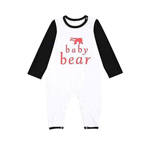 Jchen(TM) Christmas Family Pajamas Sets Dad Mom Baby