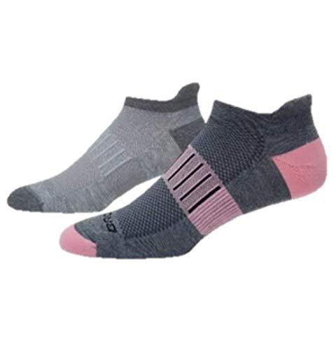 - Brooks Ghost Midweight Tab 2-Pack Running Socks Oxford/Asphalt & Asphalt/Quartz Size Medium