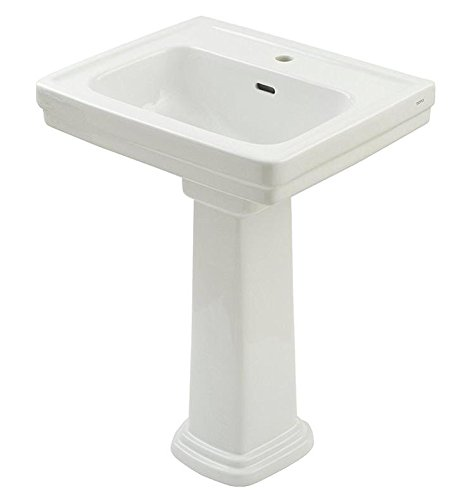 TOTO LPT532.8N#11 Promenade Lavatory and Pedestal with 8-Inch Centers, Colonial White, Deep (11 Promenade Pedestal Lavatory)