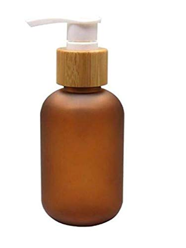 1pcs 120ML 4oz Empty Brown PET Plastic Lotion Dispenser Bamb