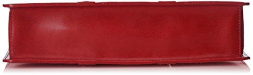 Porta Ctm Rosso Vera Pelle Borsa Da Italy Lavoro Made In 38x27x9cm Documenti Uomo Organizer 100 Sd6dqHrx