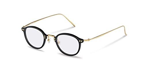 Rodenstock R7059 A Black & Gold Unisex Eyeglasses Prescription Eyewear Frames - Rodenstock Frames Eyeglass