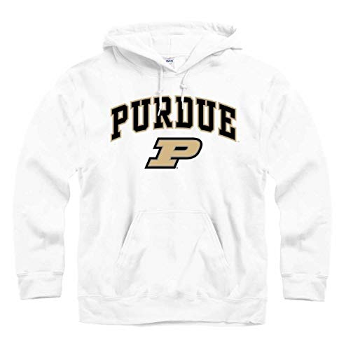 Campus Colors Purdue Boilermakers Arch & Logo Gameday Hooded Sweatshirt - White, Small ()