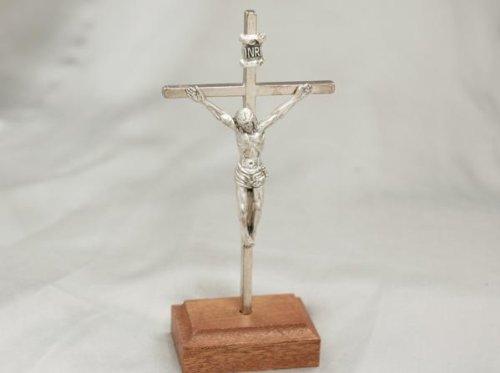 Metall-Kreuz mit Sockel