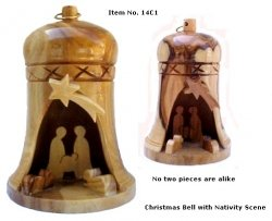 Bell Nativity - Christmas Bell with Nativity Scene