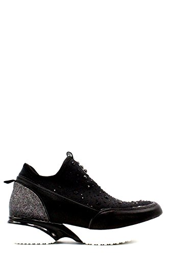 NEW CAFE' NOIR SNEAKER IN LYCRA E STRASS NERO A-I 2018 COD. DE927