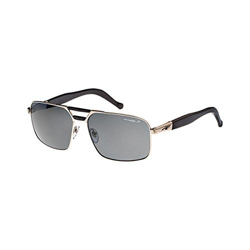 Arnette Smokey AN3068-06 Aviator Sunglasses, Chrome, 60 - Arnette Aviators