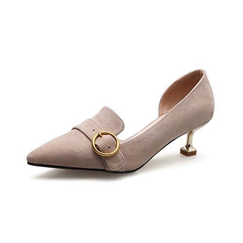 nbsp donna Scarpe In Mms06654 style Pelle 1to9 Apricot Moda Pompe Solido  Baguette UwdxFgqF 835639e8fee