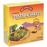 Corn 12 Shells - Little Bear Yellow Corn Taco Shells (12x5.5 Oz) by Bearitos