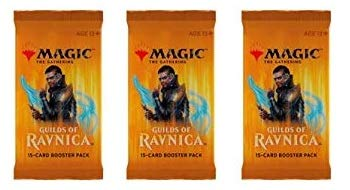 Magic The Gathering Guilds of Ravnica 3 Booster Packs
