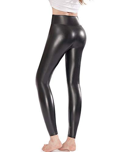 Ginasy Leather Leggings Stretchy Waisted product image