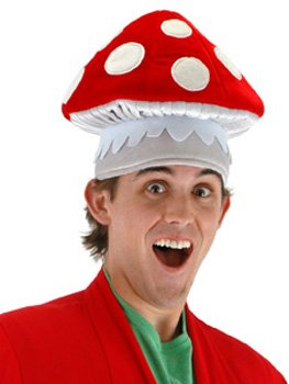Toad From Mario Costumes (Elope Mushroom Hat)